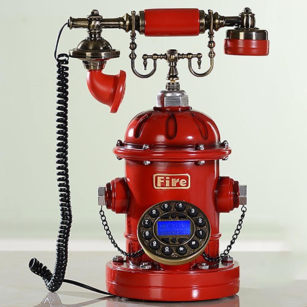 BBIAY Retro Craft Home Scrivania Telefono Idrante Stile Personalità Camera Da Letto Ornamento Di