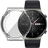 Dado Protective Case For Huawei GT2 PRO Smart Watch Cover TPU Full cover Case protector (Clear)