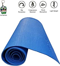 Jogger Quickshel Non Slip Yoga Mat 6mm Thick and Non-Slippery Washable for Men & Women with Carrying Bag (Blue)