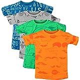 Luke and Lilly Boy's Cotton Animal Print Regular Fit T-Shirt