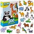 Magneti bambini MAGDUM Animali Felici ZOO - 20 GRANDI calamite frigorifero - Giochi educativi 1 anno - Giochi bambini 3 anni