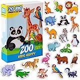 MAGDUM Imanes Animales Zoo Infantil para niños - Imanes Nevera Grandes - Juguetes EDUCATIVOS bebé 3 años - Imanes Pizarra mag
