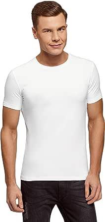 oodji Ultra Men's Basic Slim-Fit T-Shirt