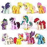 Yisscen Cake Topper Unicornio, Mini Juego Figuras, Niños Unicornio Mini Juguetes Juguete PVC para Baby Shower Fiesta de cumpl