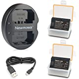 NP-FZ100 Newmowa Batería de Repuesto (2-Pack) y Kit de Cargador Doble para Micro USB portátil para Sony NP-FZ100,BC-QZ1 y Son