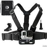 Camkix® Harnais de Fixation Poitrine Compatible avec GoPro Sangle Poitrine Réglable Compatible avec Gopro Hero 8 Black…