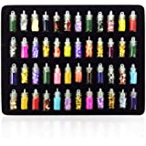 SYGA Nail Stickers 3D Glitter Powder Manicure Set, Nail Art Tool for Nail Decoration (Multicolour) - Set of 48 Bottles