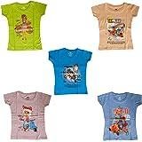 YelloWear Girls T Shirts - Pack of 5