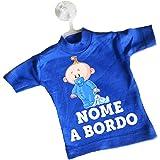 LArcobaleno di Luci 07 Mini T-Shirt Bimbo A Bordo Con supereroi e Nome Bimbo O Bimba