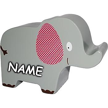 Belldessa XL Spardose Kinderspardose Delfin // Fisch Name Wal incl 12 cm Sparschwein stabile Sparb/üchse aus Holz f/ür Kinder /& Erwachsene // lustig ..