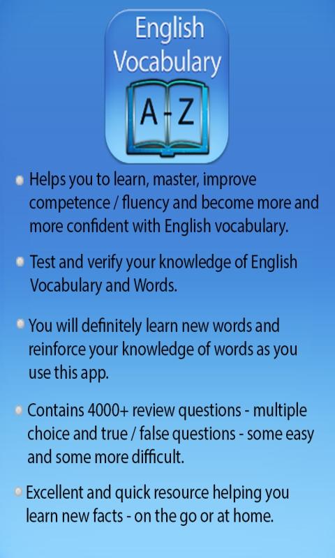 English Vocabulary & Word Builder Quiz: Amazon.de: Apps