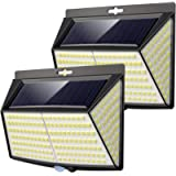 228 Led Solar Security Light,【2 Pack 】Solar Lights Outdoor Garden Fence Lights 270° Wide Angle Solar Motion Sensor…