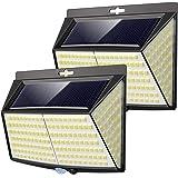 Vighep Luz Solar Exterior 228 LED,【2 Pack / 3 Modos】270 °lluminación Focos Solares Exterior con Sensor de Movimiento Impermea