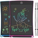 2 Pack Tabletas de Escritura LCD 8.5 Pulgadas,Tablet para Dibujo Niños con Llneas de Colores Brillantes, Excelente Pizarra Di