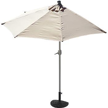 Mendler Demi Parasol Aluminium Parla Pour Balcon Ou Terrasse Ip 50