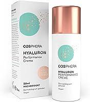 Cosphera - Hyaluron Performance Creme 50 ml - vegane Tages- und Nachtcreme hochdosiert für Gesicht, Hals, Dekolleté,...