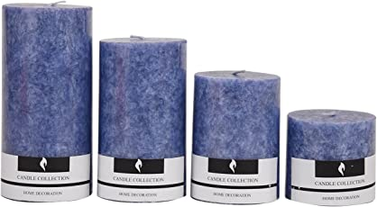 EIN SOF Decorative Set of 4 Scented Pillar Candles