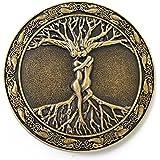 LKMY 3D Tree of Life Belt Buckle,Keltischer Baum des Lebens, Liebe, Nordische Mythologie, Pagan, Wikka (tree2 brown)