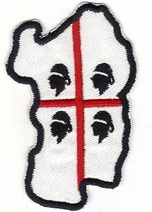 Patch Region Sardinien 4 Mori 5 5 X 9 Cm Weißer Grund Stickerei 102b Küche Haushalt