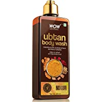 WOW Skin Science Ubtan Body Wash with Chickpea Flour, Almond Extract, Saffron & Turmeric Extracts - No Sulphate…