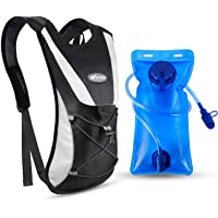 Kuyou Professional Hydration Backpack, Water Bag Backpack with 2L Hydration Pack Water Bladder Perfect for Hiking Backpack Cycling Rucksack Climbing Camping Running Bags
