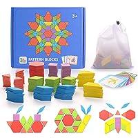 HellDoler Puzzle en Bois Jouets 155 Piècess Tangrams Blocs de Modèle Classiques Jouets Montessori Jouets éducatifs avec…