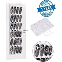 Callas 24 Pockets Crystal Clear Over The Door Hanging Shoe Organizer (Shoe Organizer)
