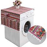 130 x 55 cm Housse de Protection pour Réfrigérateur avec Poches de Rangement,Couvercle Anti-poussière pour Machine à Laver,Ho