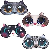 4er-Set Schlafmaske Niedliche Augenbinde, Weiche und Flauschige Schlafmaske, für Mädchen, Damen, Daydreams, Augenbinde…