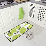 "Kitchen Mat, Green Lime And Lemon Kitchen Rugs Waterproof Non Slip Doormat Bathroom Runner Area Rug Carpet, (39""x20"")"