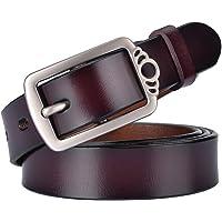 MRACSIY Cintura da donna con fibbia ad ardiglione Cintura anticata in lunghezza 115cm
