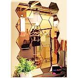 Bikri Kendra - Hexagon 20 Golden Acrylic Mirror Wall Stickers