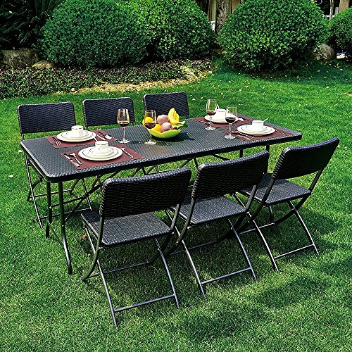 Ikayaa 6ft table pliante camping picnic portable jardin bbq party repas cuisine caf table - Table picnic pliante decathlon ...