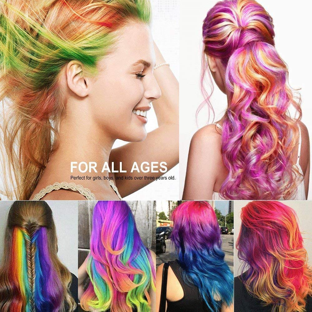 Hair-Chalk-for-Kids-Girls-Face-Paint-Temporary-Hair-Chalks-Colour-Set-for-Makeup-Hair-Chalk-Pens-Birthday-Gifts-for-Girls-Boys-Washable-Hair-Dye-for-Blonde-Brown-Auburn-Dark-Hair-Color