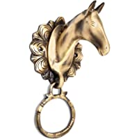 Two Moustaches Horse Head Brass Door Knocker