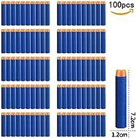 StillCool Nerf Darts 7.2cm 100 Stück Blue Foam Pfeile Patronen für N-Strike Elite Series Blasters Longshot Vulcan...