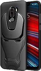 FOSO Xiaomi Poco F1 Metal Man 3D Structured TPU Rubberised Back Cover for Xiaomi Poco Phone F1