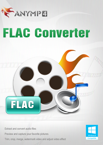 AnyMP4 FLAC Converter 1 Year License - FLAC, FLV, F4V und SWF in MP3, M4A, AIFF, ALAC, WAV, WMA usw. konvertieren [Download] -
