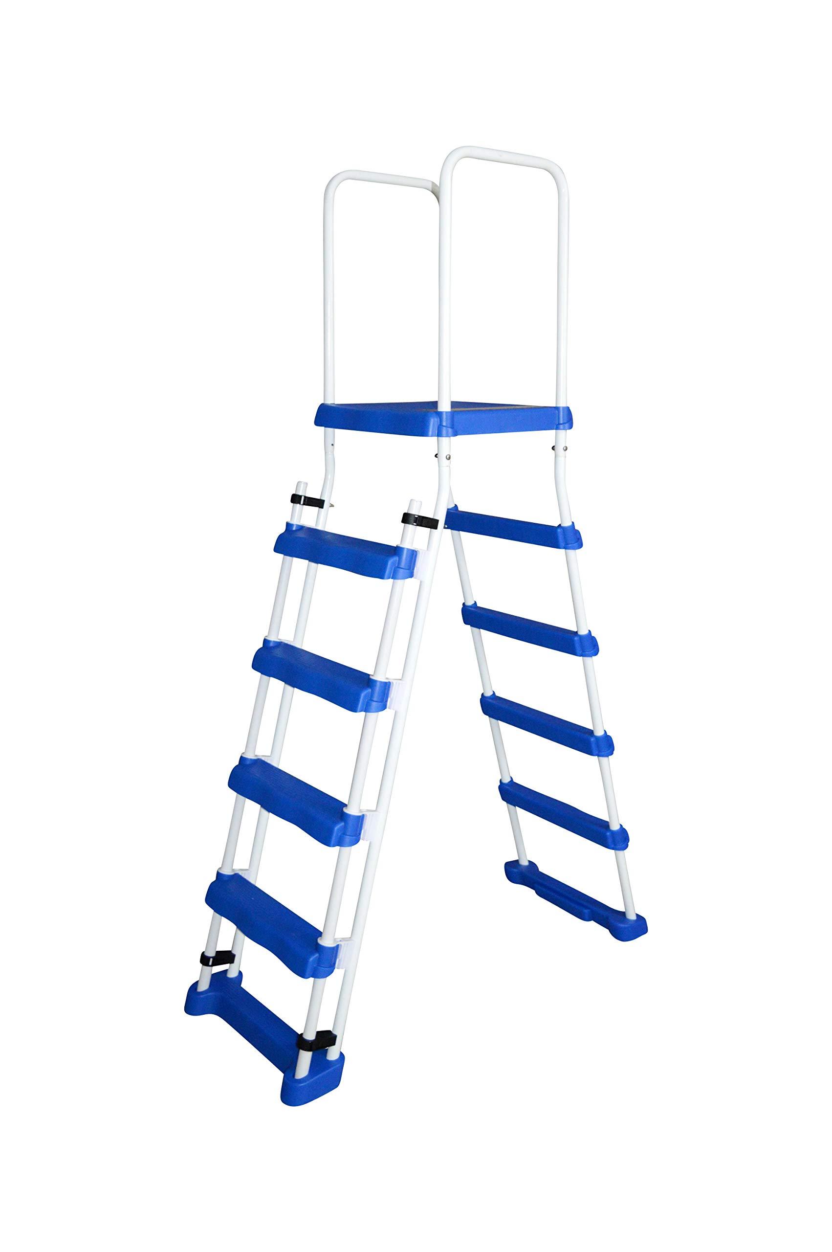 SPIRATO Spiranto – Escalera de Seguridad con Plataforma para Piscinas de hasta 1,22 m de Altura