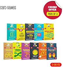 Toiing Fun Educational Card Games for Kids, (Multicolour) - Pack of 11
