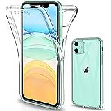SOGUDE Coque Compatible avec iPhone 11 6.1 2019 Etui, iPhone 11 Coque Transparent Silicone TPU Case Intégral 360 Degres Full