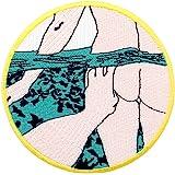 Toppa ricamata da applicare con ferro da stiro o cucitura, tema: Sott'acqua della piscina