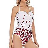 GALEBOVA Costume da Bagno Intero da Donna Costumi da Bagno con Scollo a V, Monokini