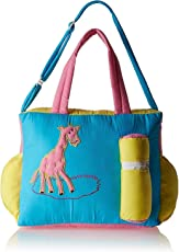Duck Fabric New Born Baby Multipurpose Mother Bag with Multi Compartment (Blue, DBB06_Blue)