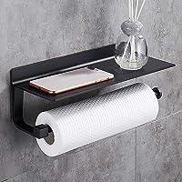 Hoomtaook Supports pour Papier Essuie-tout Distributeurs Dérouleur Essuie Tout 33cm, Aluminium, Porte-papier de Cuisine…