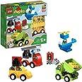 LEGO 10886 Duplo Mes Premiers Véhicules Briques de Construction avec Camion, Hélicoptère et Jouet Voiture pour Bébés de 18 Mo