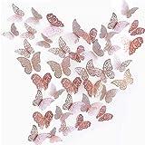 Papillons Decoration 3D Papillon Stickers pour Stickers Muraux Maison Salon Chambre d'enfants / filles Décor de fête decorati