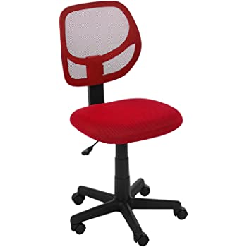 AmazonBasics Low Back Computer Chair (Red)