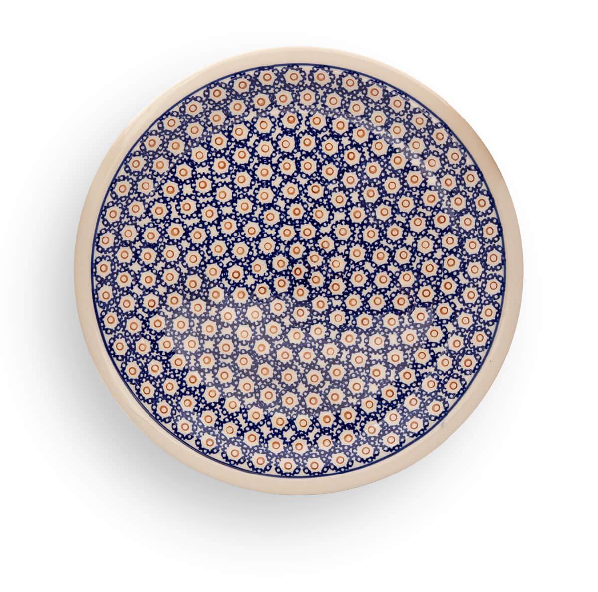 Polmedia Polish Pottery 11-inch Stoneware Plate H0220A Hand Painted from Zaklady Ceramiczne in Boleslawiec Poland. Shape S613A(GU1014) Pattern P2099A(4)