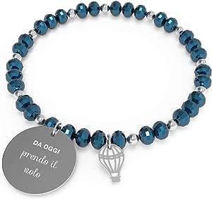 10 Buoni Propositi Bracciale Donna Prendo Il Volo Collezione Crystal Silver